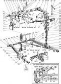 Подгруппа 4605. Механизм задней навески (для тракторов с силовым регулятором и без силового регулятора)
