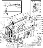 Подгруппа 8401, 8402. Облицовка радиатора. Капот (для трактора