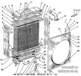Подгруппа 1301, 1302. Радиатор водяной. Подвеска радиатора водяного