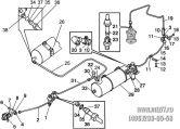 Подгруппа 3506. Трубопроводы и арматура однопроводного пневмопривода тормозов прицепа