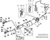 Подгруппа 3506. Трубопроводы и арматура двухпроводного пневмопривода тормозов прицепа