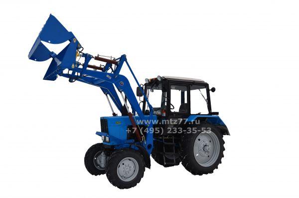 Мини-трактор МТЗ 132н. Самодельная лопата для чистки снега.